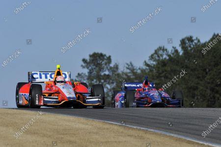 12-13 March 2013, Birmingham, Alabama USA EJ Viso and Marco Andretti ©2013, Scott R LePage LAT Photo USA