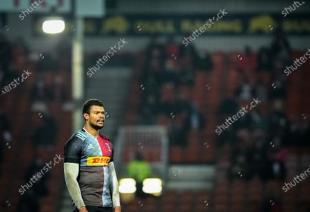 Nathan Earle of Harlequins during the Gallagher Premiership match between Gloucester Rugby and Harlequins, 06 December 2020.