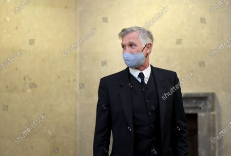 Defendant Walter Meischberger at the start of the verdict in the trial over suspected bribery and breach of trust in the Buwog privatization, at the Regional Court in Vienna, Austria, 04 December 2020. Ex-Finance Minister Karl-Heinz Grasser was sentenced to eight years in prison for breach of trust and acceptance of gifts by officials. The lobbyists Walter Meischberger and Peter Hochegger were sentenced to seven and six years' imprisonment respectively. All judgments are not final.