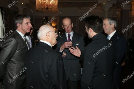 Grand Connaught Rooms, London, England. 3rd December 2012. HRH The Duke of Kent with Jason Plato and Murray Walker. World Copyright: Jakob Ebrey/LAT Photographic