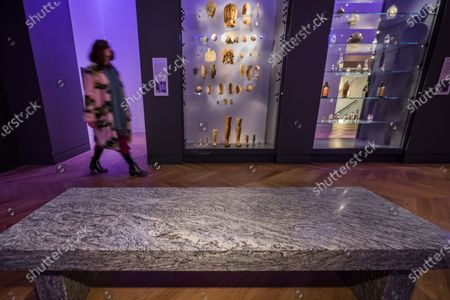 Editorial photo of Jenny Holzer's artwork - For Science - in Medicine: The Wellcome Galleries of the Science Museum., Science Museum, London, UK - 04 Dec 2020