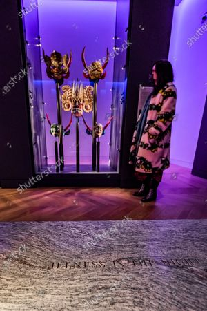 Editorial picture of Jenny Holzer's artwork - For Science - in Medicine: The Wellcome Galleries of the Science Museum., Science Museum, London, UK - 04 Dec 2020