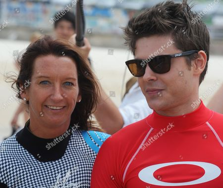 Seven time world surfing champion Layne Beachley and Zac Efron