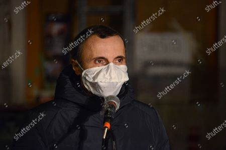 Stock Image of Valerio Aprea . This Piazza is Still Ours. The activists of the Nuovo Cinema Palazzo resist the eviction and enliven Piazza dei Sanniti with meetings, music and speeches