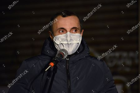 Stock Picture of Valerio Aprea . This Piazza is Still Ours. The activists of the Nuovo Cinema Palazzo resist the eviction and enliven Piazza dei Sanniti with meetings, music and speeches