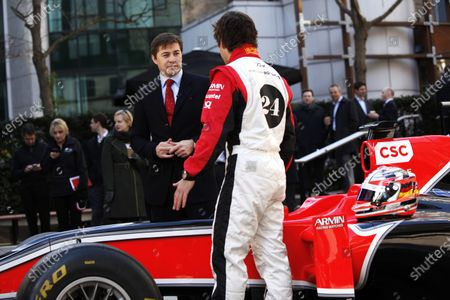 Editorial photo of Russia, Marussia Virgin Racing, CNBC Partnership announcement. - 14 Mar 2011