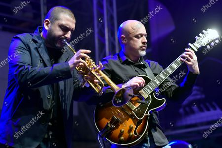 Stock Photo of French-Lebanese trumpet player Ibrahim Maalouf performs during the Beirut Chants Festival at Beirut Souks in Beirut, Lebanon, 04 December 2020. The performance was held amid the Covid-19 coronavirus pandemic and the country's severe economic crisis.