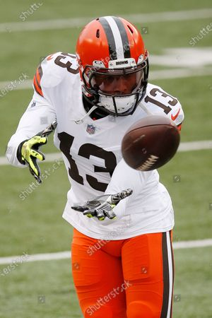 Cleveland Browns wide receiver Odell Beckham Jr. #13 during an NFL football game between the Cleveland Browns and the Cincinnati Bengals, in Cincinnati
