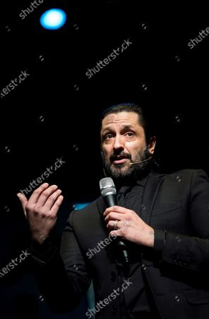 Spanish coreographer and flamenco dancer Rafael Amargo attends a press conference at La Latina Theater in Madrid, Spain, 04 December 2020. Amargo announced the postponement of the premiere of his last play 'Yerma' to next 05 December. Amargo was arrested for the alleged crimes of for criminal organization and drug trafficking during a Spanish National Police operation on 01 December 2020 in Madrid.