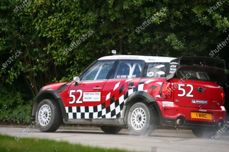 Goodwood Estate, West Sussex. 30th June - 3rd July 2011 Kris Meeke does some donuts in the Mini WRC car before taking to the hill. Action. World Copyright: Lord Hutton/LAT Photographic