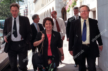 Editorial image of Gillian Shephard (now Baroness Shephard Of Northwold) Arrives For Lunch With The Leader Of The Opposition William Hague At The Savoy Hotel..