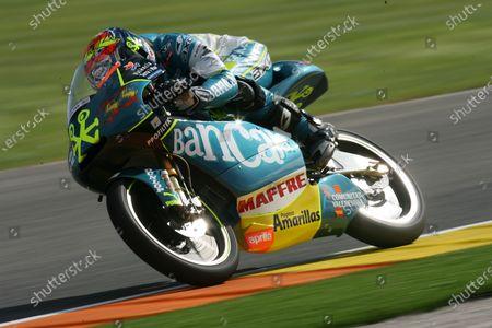 Round 17,  Valencia, Spain. 5th - 8th November 2009. Sergio Gadea Bancaja Aspar Aprilia 125cc. World Copyright: Martin Heath/LAT Photographic