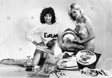 Denise Perry (blonde) And Vicky Michelle With Some Of The Items To Be Sold During The World Cup.