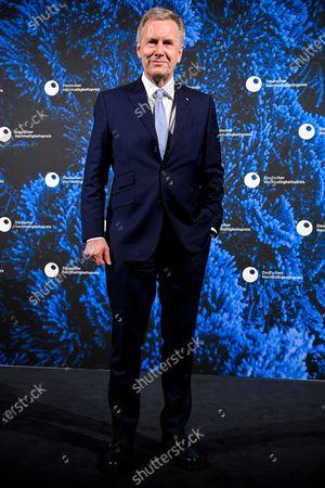 Former German president Christian Wulff poses prior to 13th German Sustainability Award 'Deutscher Nachhaltigkeitspreis' 2020 at Maritim Hotel in Duesseldorf, Germany, 04 December 2020.