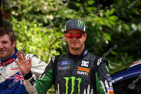 Goodwood Estate, West Sussex. 30th June - 3rd July 2011 WRC star Ken Block gives us a wave. Portrait. World Copyright: Lord Hutton/LAT Photographic