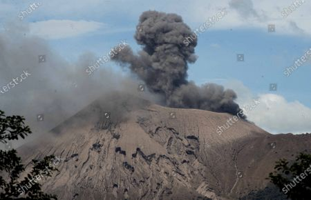 Stock Picture of A picture taken from Telica volcano during an eruption, in Leon, Nicaragua, on 04 December 2020. The Nicaraguan volcano of Telica, 1,061 meters high and located 112 kilometers northwest of Managua, 'recorded 396 small explosions in the last 24 hours, from Monday 775', detailed on 03 December the Nicaraguan vice president, Rosario Murillo.