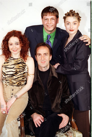 Mark Homer Rebecca Callard Angus Deayton And Daniela Denby-ashe At The Launch Of The Bbc's Spring Schedule.