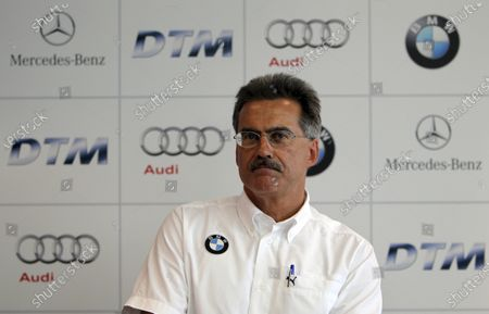 Dr. Mario Theissen (GER) BMW Motorsport Director at a press conference where it was confirmed that BMW would enter the DTM from 2012. DTM, Rd9, Hockenheim, Germany, 15-17 October 2010. World Copyright: LAT Photographic