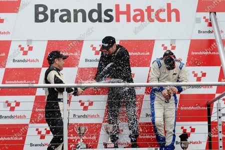 Brands Hatch, Kent. 23rd - 24th June 2012. Race 2 Podium (l-r) Mark Shaw, Ian Payne, Terry Langley. World Copyright: Ebrey/LAT Photographic.