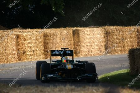 Goodwood Estate, West Sussex. 30th June - 3rd July 2011 Luis Razia takes the Lotus T127 Cosworth up the hill. Action. World Copyright: Lord Hutton/LAT Photographic
