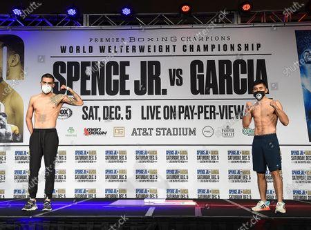 Editorial image of Fox Sports PBC PPV Spence v Garcia Fight Night Weigh-In, Dallas, Texas, USA - 04 Dec 2020