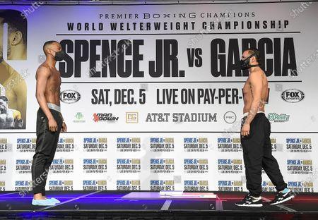 Editorial photo of Fox Sports PBC PPV Spence v Garcia Fight Night Weigh-In, Dallas, Texas, USA - 04 Dec 2020