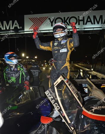 Stock Photo of 17-20 October, 2012, Braselton, Georgia USA.#12 Rebellion Racing's Neal Jani after closing out the race win .(c)2012 Dan R. Boyd, LAT Photo USA