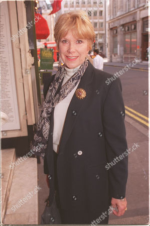 Editorial image of Wendy Craig At The Comedy Theatre In Haymarket For The Memorial Service Of Donald Pleasence.