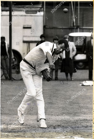 Colin Croft Cricketer For West Indies At Old Trafford In 1980.