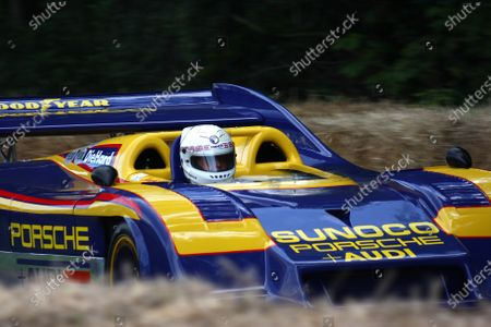 Goodwood Estate, West Sussex. 30th June - 3rd July 2011 An ex-Mark Donahue Porsche 917/30KL charges up the hill. Action. World Copyright: Lord Hutton/LAT Photographic