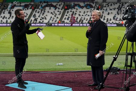 Stock Picture of Sir Trevor Brooking is interviewed before kick off