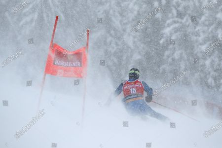 United States' Ted Ligety competes during the second run of an alpine ski, World Cup men's giant slalom in Santa Caterina Valfurva, Italy