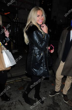 Editorial image of Celebrities at Annabels, Mayfair, London, UK - 04 Dec 2020