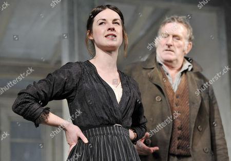 Jessica Raine (Regine  Engstrand) and Malcolm Storry (Jacob Engstrand)