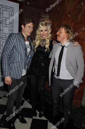 Stock Image of Lee Ryan, Pixie Lott and Leigh Francis