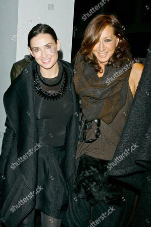 Demi Moore and Donna Karan