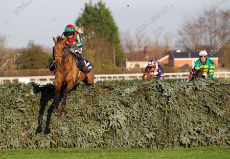 Vieux Lion Rouge and Conor O'Farrell win the William Hill Becher Chase at Aintree.