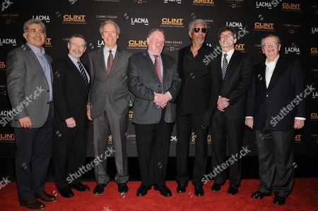 Terry Semel, Barry Meyer, Clint Eastwood,Richard Schickel, Morgan Freeman, Alan Horn and Bob Daly