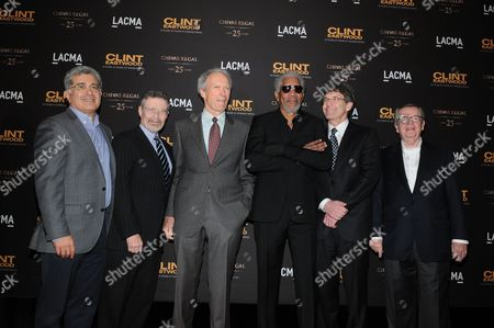 Terry Semel, Barry Meyer, Clint Eastwood, Morgan Freeman, Alan Horn and Bob Daly
