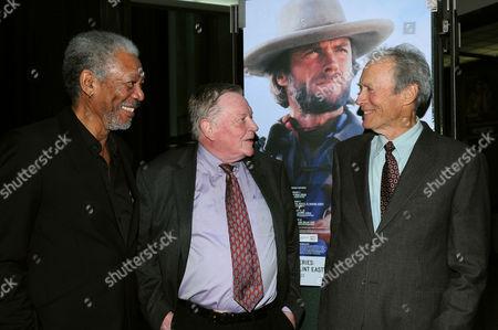 Morgan Freeman, Richard Schickel, Clint Eastwood