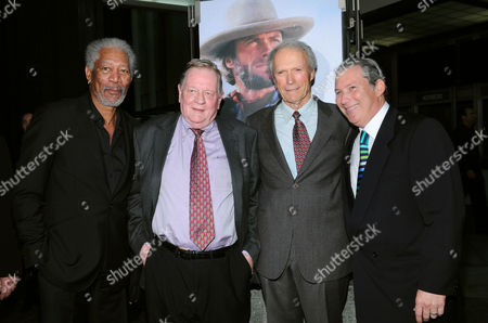 Morgan Freeman, Richard Schickel, Clint Eastwood and Jeff Baker