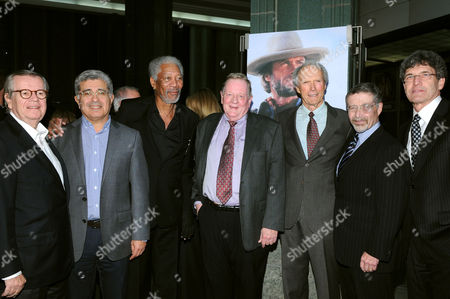 Bob Daly, Terry Semel, Morgan Freeman, Richard Schickel, Clint Eastwood, Barry Meyer and Alan Horn