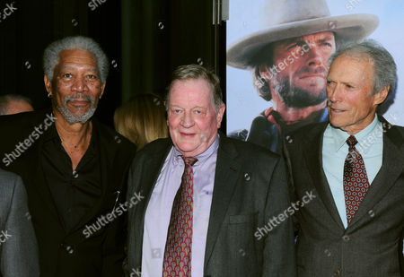 Morgan Freeman, Richard Schickel and Clint Eastwood