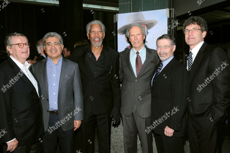 Bob Daly, Terry Semel, Morgan Freeman, Clint Eastwood, Barry Meyer and Alan Horn