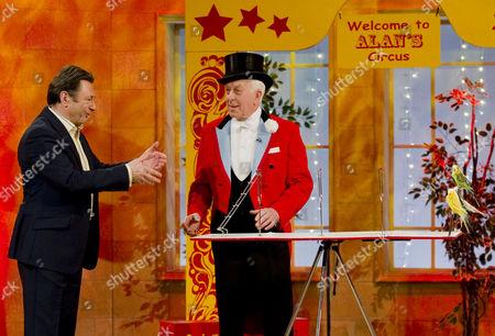 Alan Titchmarsh  with Zippo Circus Ringmaster Norman Barrett