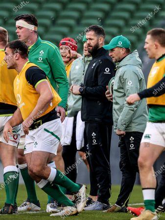 Ireland vs Scotland. Ireland Assistant Coach Mike Catt