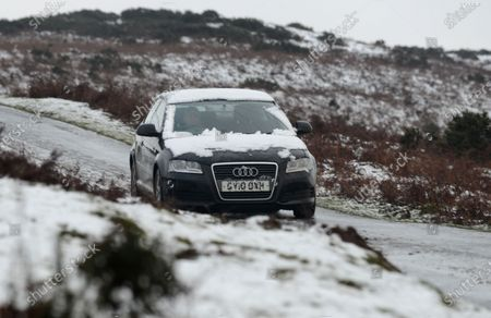 Tricky driving conditions on GospellPass,  between Hay on Wye and Capel Y Finn on the Welsh border with Herefordshire today (Sat).