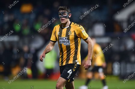 Oldham Athletic defender Sido Jombati (4) during the EFL Sky Bet League 2 match between Cambridge United and Oldham Athletic at the Cambs Glass Stadium, Cambridge
