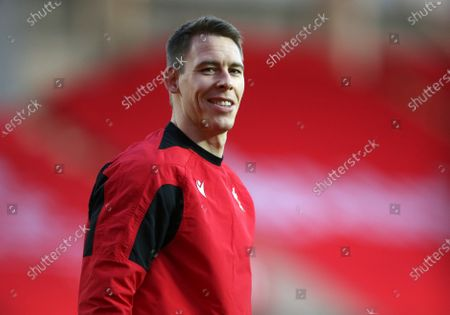 Liam Williams of Wales during the warm up.