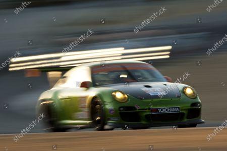 American Le Mans Series.  Laguna Seca, Monterey, California. 15th - 17th September 2011.  Peter LeSaffre / Damien Faulkner, Green Hornet / Black Swan Racing, Porsche 911 GT3 Cup.  Action.  Photo: Drew Gibson/LAT Photographic.